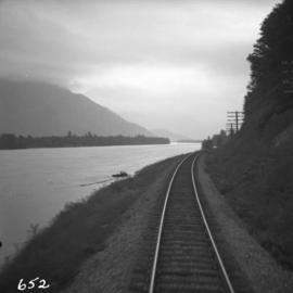 C.N. tracks along the Fraser River