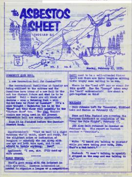 The Asbestos Sheet Feb. 1959