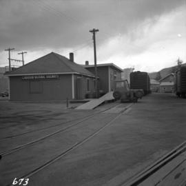 C.N.R. freight depot at Penticton