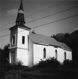Indian Roman Catholic Church at the mouth of Anderson Lake
