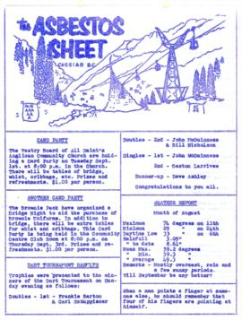 The Asbestos Sheet Aug. 1964