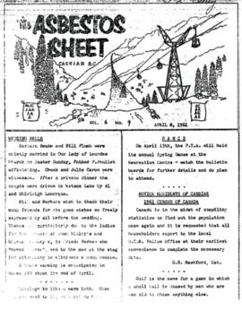 The Asbestos Sheet Apr. 1961