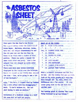 The Asbestos Sheet Jan. 1960