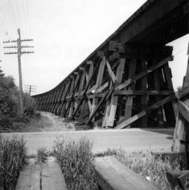 Trestle of Great Northern Railway trackage