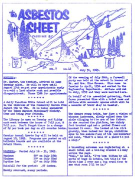 The Asbestos Sheet July 1963