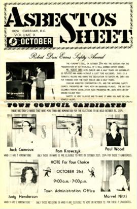 The Asbestos Sheet Oct. 1974