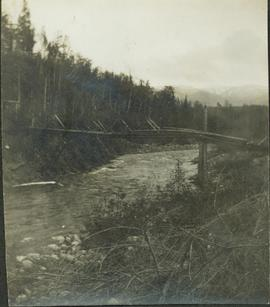 Second(?) Hagwilget Bridge spanning the Bulkley River Canyon between Old and New Hazelton