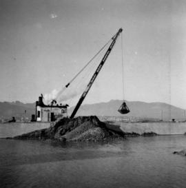 Construction of a new pier  in Vancouver, B.C.
