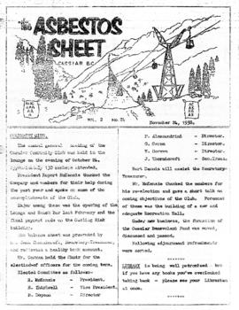 The Asbestos Sheet 24 Nov. 1958