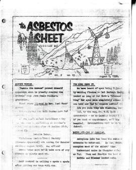 The Asbestos Sheet 6 Aug. 1958