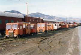 CN Kamloops Junction speeders for disposal