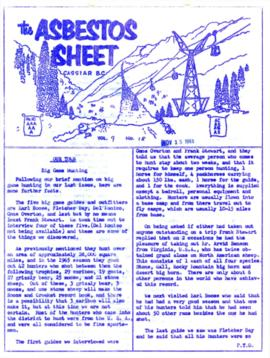 The Asbestos Sheet Nov. 1965