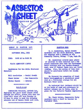 The Asbestos Sheet Sept. 1963