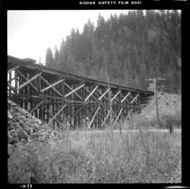 Trestle bridge on old Kettle Valley Railway