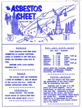 The Asbestos Sheet Nov. 1963