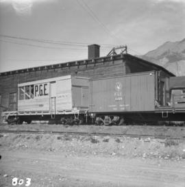 Pacific Great Eastern auxiliary tool cars at Lillooet