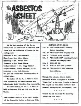 The Asbestos Sheet Feb. 1961