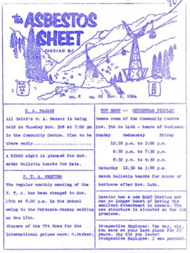The Asbestos Sheet Nov. 1964