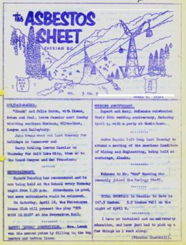 The Asbestos Sheet Apr. 1959