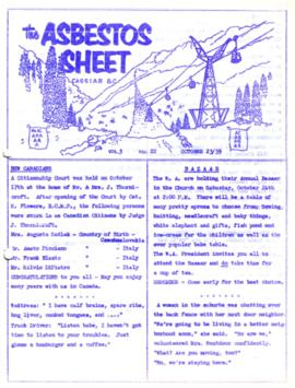 The Asbestos Sheet Oct. 1959