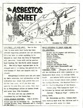 The Asbestos Sheet 8 Dec. 1958