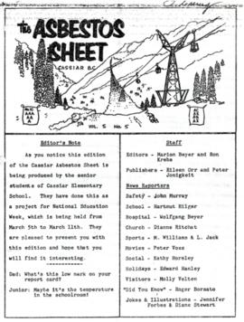 The Asbestos Sheet Mar. 1961