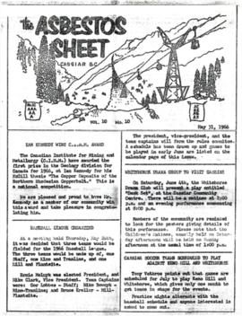 The Asbestos Sheet May 1966