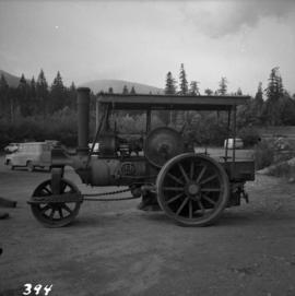 Ruston steam roller in Duncan, BC