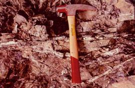Hammer at Excavated Wall