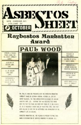 The Asbestos Sheet Oct. 1975