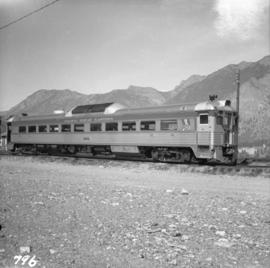 Pacific Great Eastern Budd car at Lillooet yards
