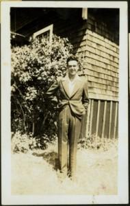 Hugh Taylor Jr. in Front of House