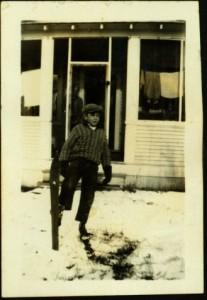 Hugh Taylor Jr. Wearing Skis