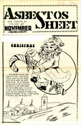 The Asbestos Sheet Nov. 1975
