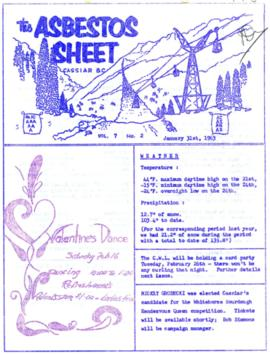 The Asbestos Sheet Jan. 1963