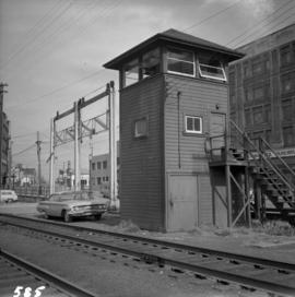 Tower controlling C.P.R. grade crossing in Vancouver