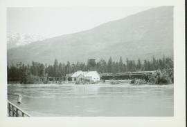 Flood waters at or near the Pacific Station on the Skeena River