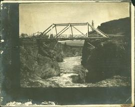 Bridge Crossing River Canyon