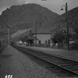 C.N.R. depot at Spences Bridge