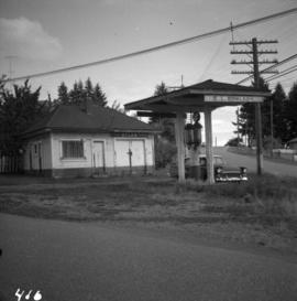 Early type of gas station near Nanaimo, BC