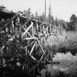 Former logging railroad trestle