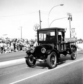 Early type of truck found during a May Day Parade in Nanaimo