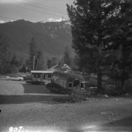 Passenger car converted to a cafe at Pemberton and Anderson Lake