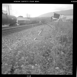 View of CPR mainline and siding at Salmon Arm