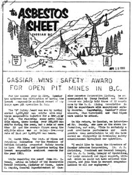 The Asbestos Sheet Apr. 1966