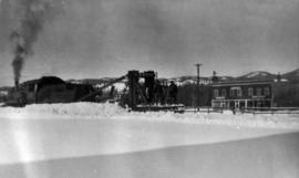 CNR locomotive with snow removal equipment 51070