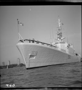 H.M.C.S. Saskatchewan in English Bay