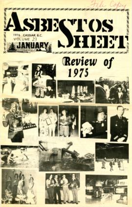 The Asbestos Sheet Jan. 1976