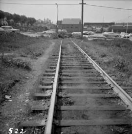 End of the C.P.R. transcontinental line in Vancouver, B.C.