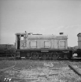 0-6-0 diesel switcher locomotive at the Pacific Coast Bulk Terminals